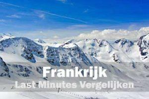 Frankrijk wintersport lastminutes vergelijken