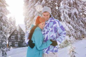 wintersport samen veel sneeuw